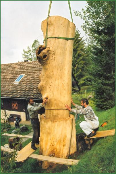 Assemblage d'une sculpture géante d'Alain Favrod