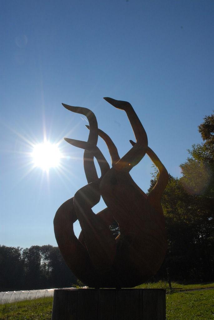 Les Flammes, une sculpture d'Alain Favrod