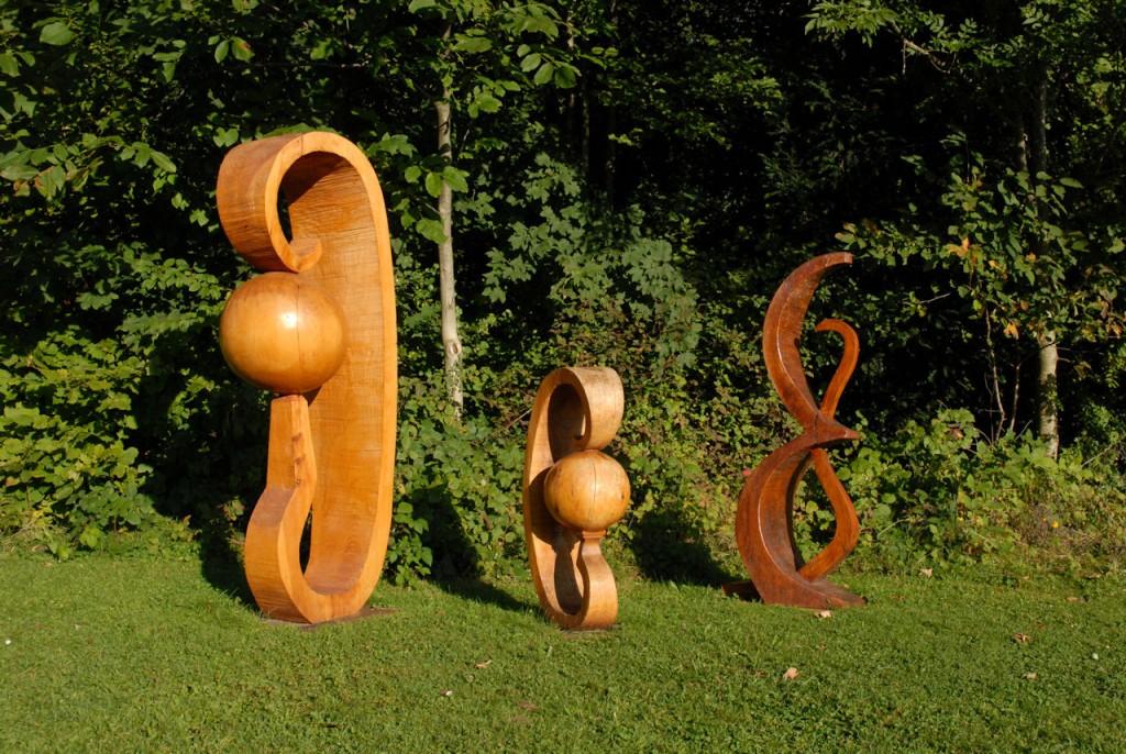 Les Terres Précieuses, une sculpture d'Alain Favrod