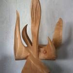 Lakshmi 2, hêtre-acier, 90 cm